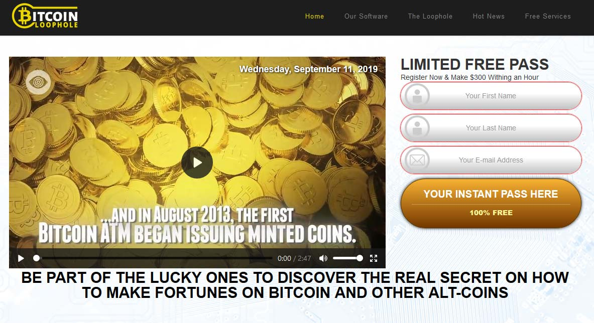 Bitcoin Loophole Review – Is it SCAM or LEGIT broker?