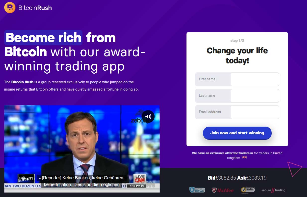 Bitcoin Rush Review – Is it SCAM or LEGIT broker?
