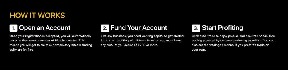 Bitcoin Investor Account creation