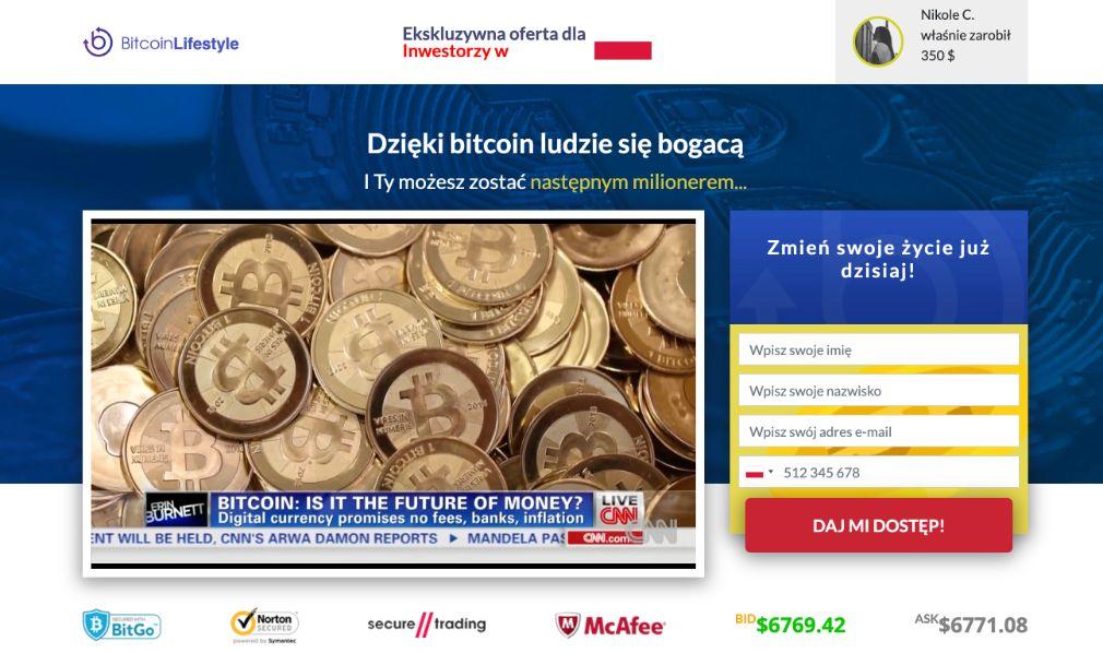 Bitcoin Lifestyle Oszustwo
