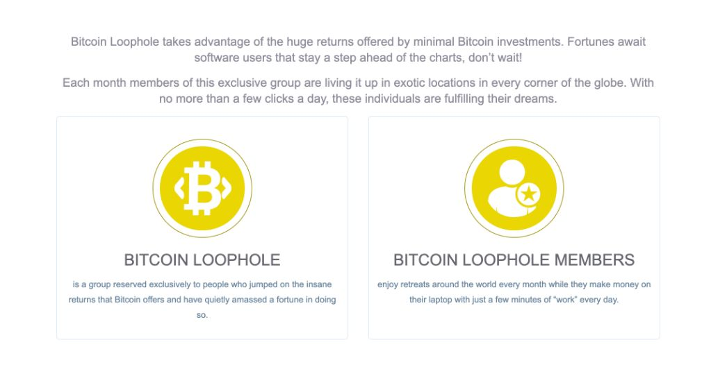 Bitcoin Loophole como funciona