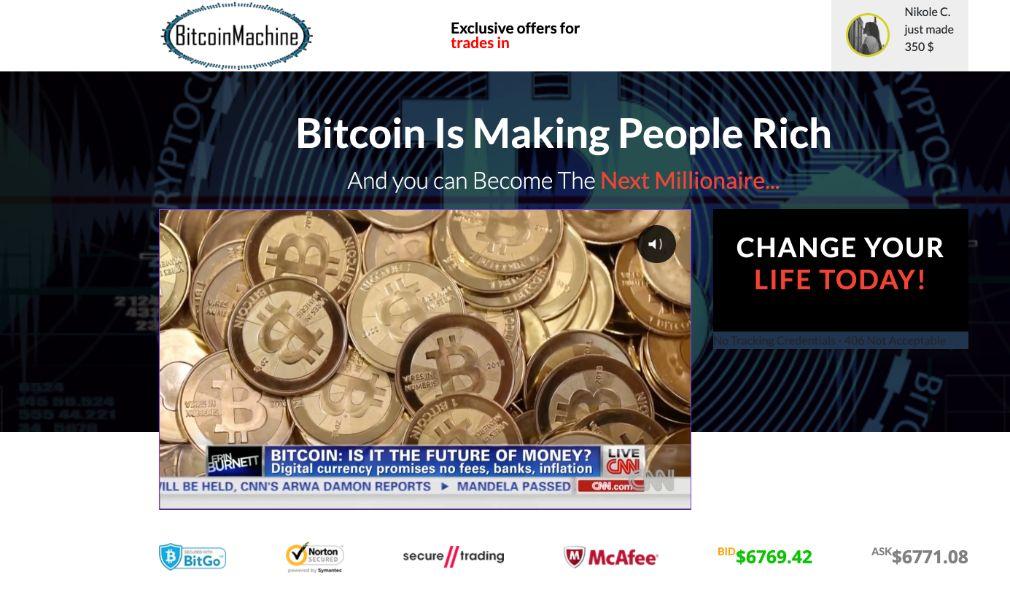 Bitcoin Machine fiable o estafa