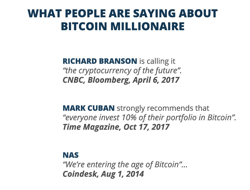 Bitcoin Millionaire what people say