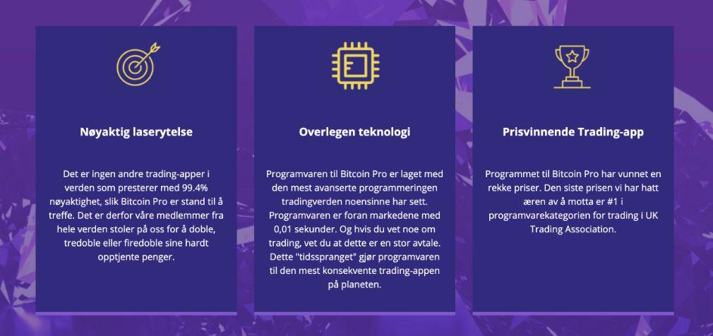 Bitcoin Pro fordeler