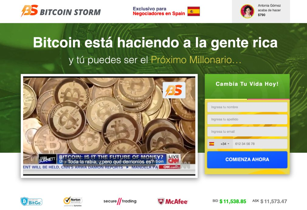Bitcoin Storm fiable o estafa