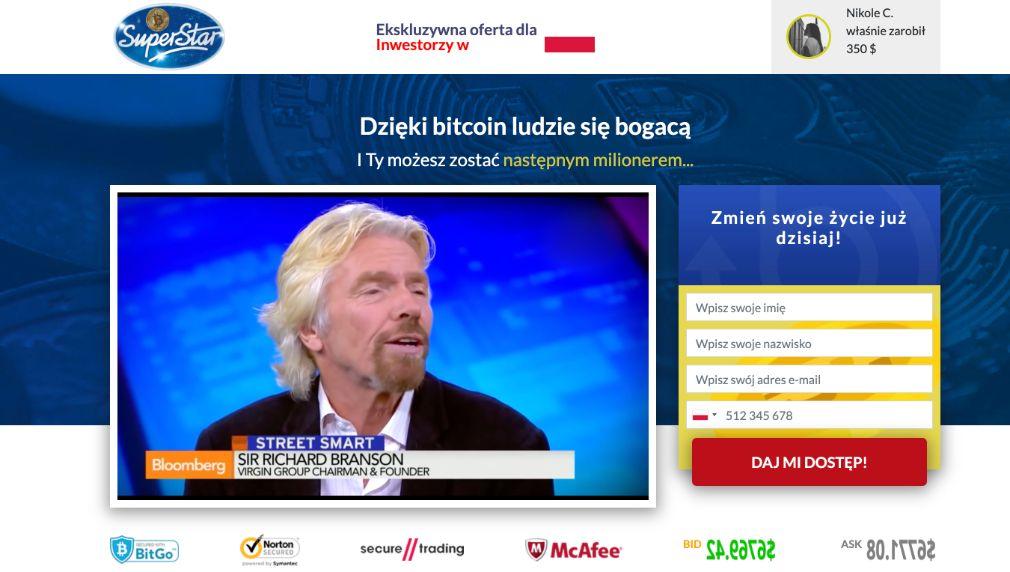 Bitcoin Superstar Oszustwo