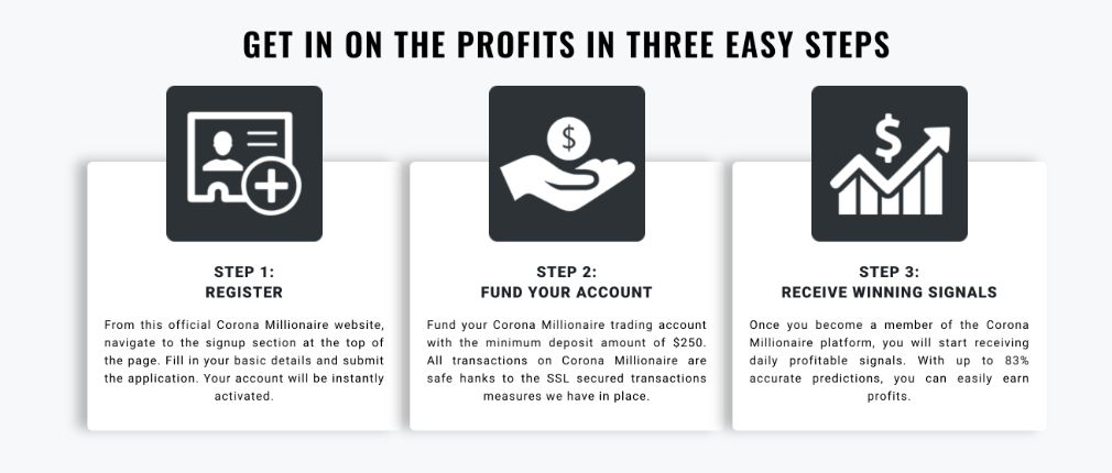 Corona Millionaire How to get started