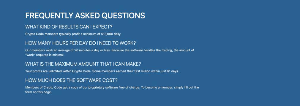 Crypto Code Questions fréquemment posées