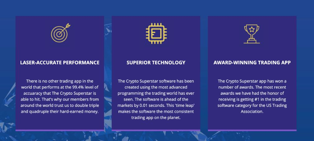 Advantages of trading with Crypto Superstar
