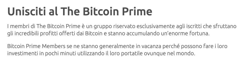 Bitcoin Prime per partecipare