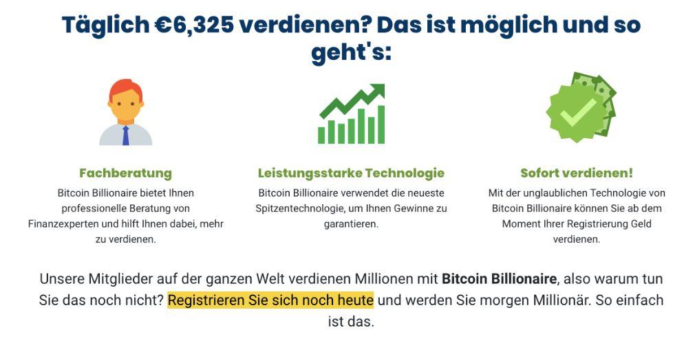 Bitcoin Billionaire Erfolg