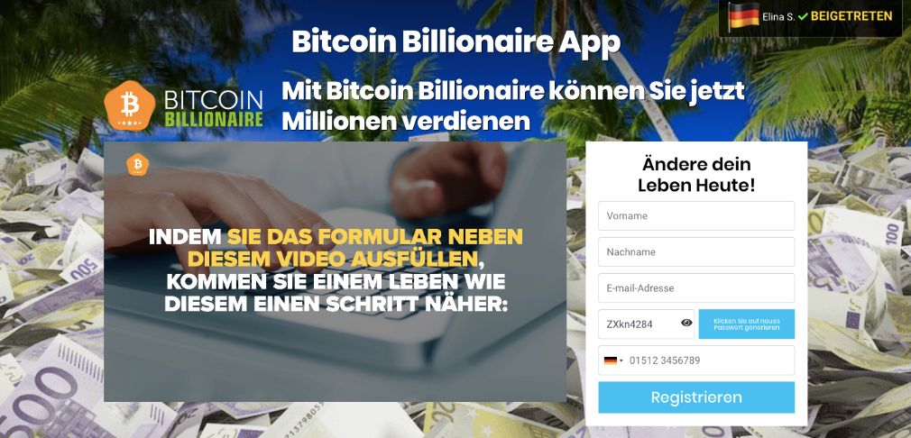 Bitcoin Billionaire Erfahrungen und Test