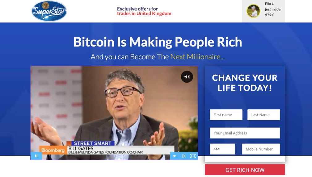 Bitcoin Superstar - Use on mobile devices and computers
