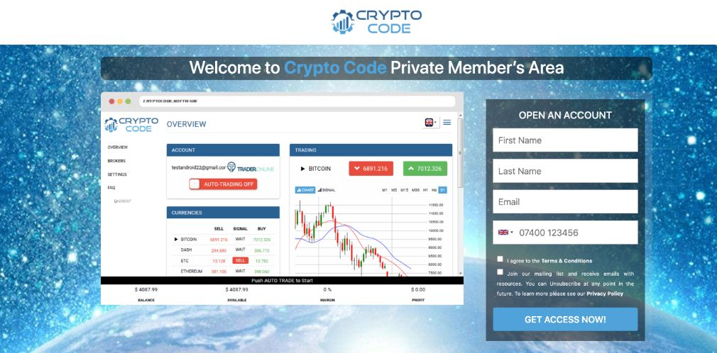 Crypto Code - Is there an app?