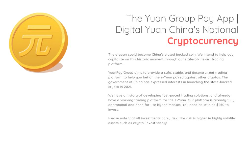 Yuan Pay Group features